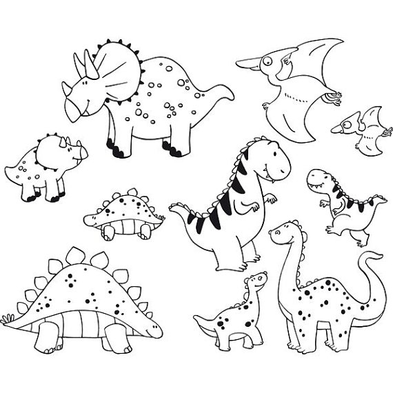 Kleurplaten Dinos.Learning Nursery Rhymes Lyrics